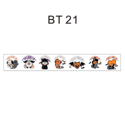 1PC BTS Adhesive Tape BT21 Paper Masking Scrapbooking Sticker BT21