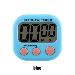 1PC Kitchen Timer Count-Down Up LCD Digital Display BLUE