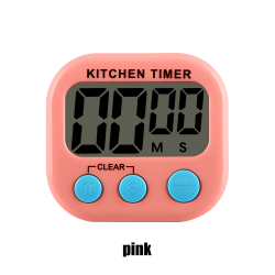 1PC Kitchen Timer Count-Down Up LCD Digital Display PINK