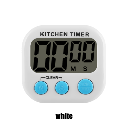 1PC Kitchen Timer Count-Down Up LCD Digital Display WHITE
