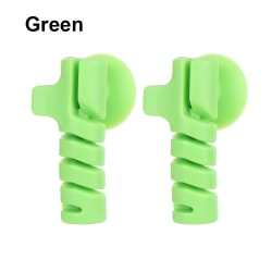 2 PCS Cable Protector Wire Winder GREEN