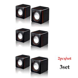 2Pcs/Set Speaker USB Small Audio Music Player 3SET