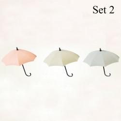3st / set Paraplykrok Förvaringsställ Vägghängare SET 2