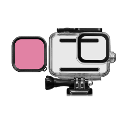 45M Waterproof Case Protective Shell Purple Pink Red Lens