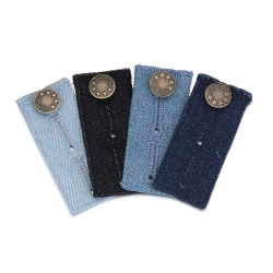 4PCS Byxor Förlängare Knappar Jeans Midja Förlängning Snap Kläder