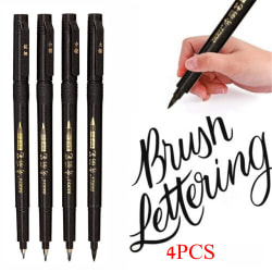 4PCS/Set Calligraphy Ink Pen Paintbrush Hand Lettering Drawing