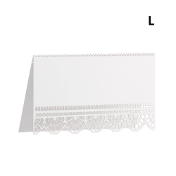 50Pcs Table Numbers Cards Greeting Card White Lace Name L