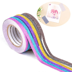 6 Pcs Random Color Tape Sticky Paper Scrapbook Sticker Masking