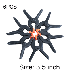 6PCS Toggle Clamps Hard Plastic  Woodworking Grip 3.5 INCH 3.5 inch