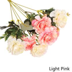 7 gafflar Konstgjorda blommor Fake Rose Peony LIGHT PINK