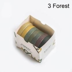 7 st / mycket pappersdekaler Washi Tapes DIY Sticker 3 FOREST