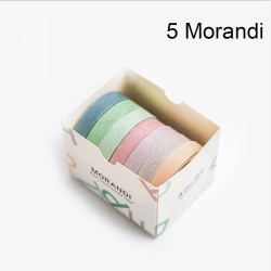 7 st / parti Pappersdekaler Washi Tapes DIY Sticker 5 MORANDI