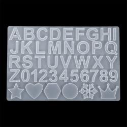 Alfabetnummer Silikonformar Hartsform