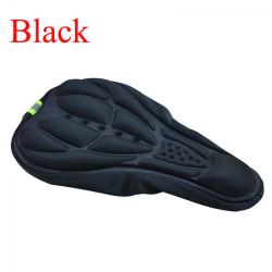 Bike Seat Pad Silicone Saddle Cover Gel Cushion BLACK