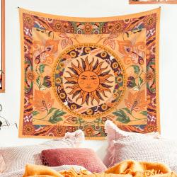 Burning Sun Tapestry Flower Vines Tapestries 130X150CM 130x150cm