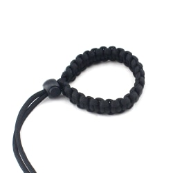 Camera Strap Braided Wristband Paracord BLACK