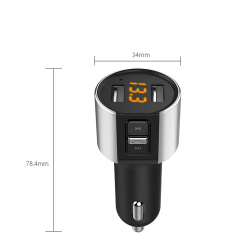 Car Charger Bluetooth Player 2-Port USB Fast Charging