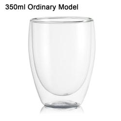 Dubbelskikt Glaskopp 350ML ORDINÄR MODELL