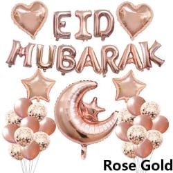 Eid Mubarak Ballonger Uppblåsbara leksaker ROSE GULD