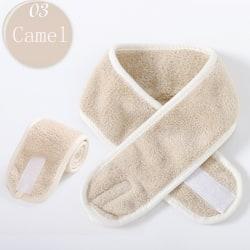 Facial Hairband Makeup Head Band Toweling Hair Wrap CAMEL