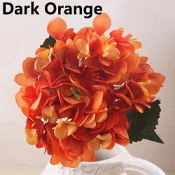 Fake Bouquet Artificial Flower Hydrangea DARK ORANGE