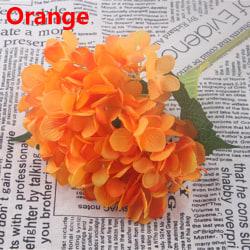 Fake Bouquet Artificial Flower Hydrangea ORANGE