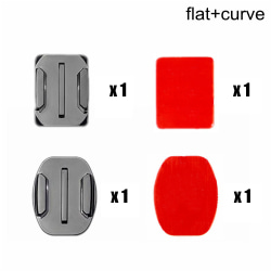 Flat Curved Mounts Adhesive Sticker Pad FLAT AND CURVE