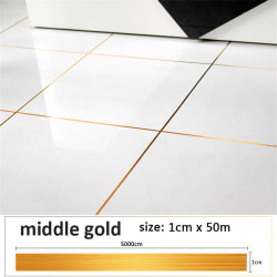 Floor Tile Tape Wall Sticker Self Adhesive MIDDLE GOLD middle gold