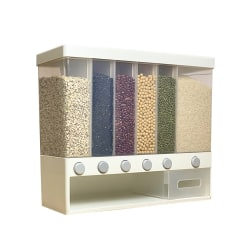 Food Dispenser Cereal Storage Box Large Capacity Wall-Mounted