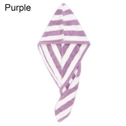 Hair Drying Towel Shower Towel Dry Hair Turban PURPLE