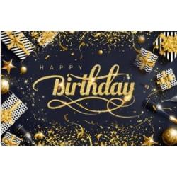 Grattis på födelsedagen bakgrundsbanner Fotostudio Bakgrundsfotografering