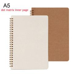 Kraft Paper Notebook Coil Notebooks B5 A5 DOT MATRIX INNER PAGE