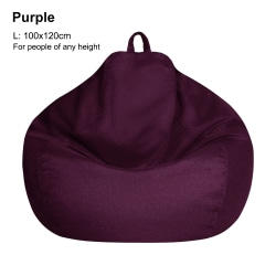 Large Bean Bag Chair Sofa Cover Lazy Lounger PURPLE L
