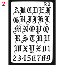 Layering Stencils Letter Alphabet Wall Painting 2