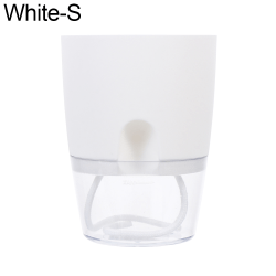 Lazy Flowerpot Self-watering WHITE S