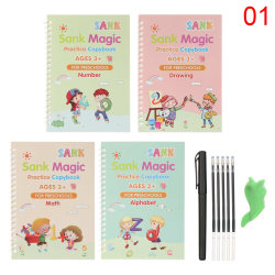 Magic Writing Stickers Kids Groove Copybook Handwriting 1