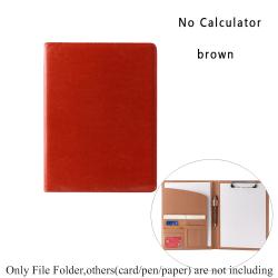 Manager Portfolio File Folder Document Holder BROWN NO