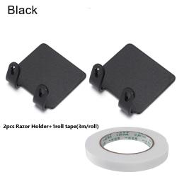 Razor Holder Shaver Organizer Storage Rack BLACK