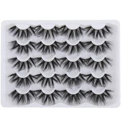 SKONHED 10 par falska ögonfransar Ögonfransförlängning 4DL015