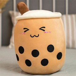 Soft Stuffed Plush Pillow Bubble Tea Boba Cup Pattern