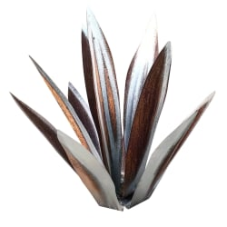 Tequila Rustik Skulptur Metall Agave Plant SILVER 27CM