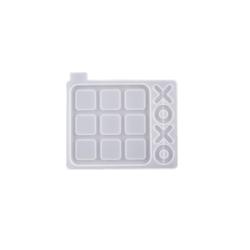 Tic Tac Toe Game Mould XO Silikon Harts mögel Smycken Making S