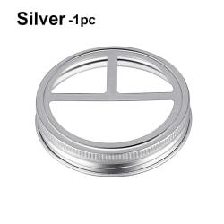 Toothbrush Holder Lid Mason Jar Lid Canning Lids SILVER 1PC silver