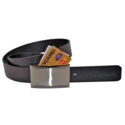 Kreditkortsbälte i äkta läder svart