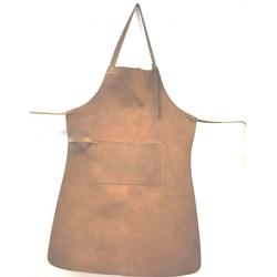 Svensktillverkat tumlat skinnförkläde i äkta läder