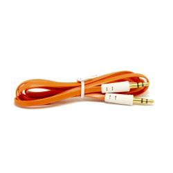 1M Ljudkabel 3.5 mm till 3.5 mm - Orange Rosa