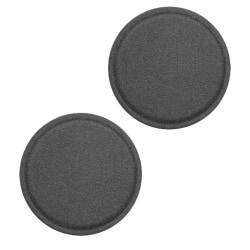 2-Pack Metallplatta för magnet tillbehör - Svart (Läder) 40mm Svart
