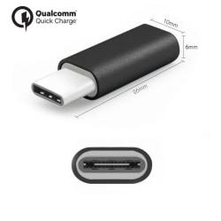 [2-Pack] Micro-USB till USB-C Adapter till Samsung, Huawei m.fl.