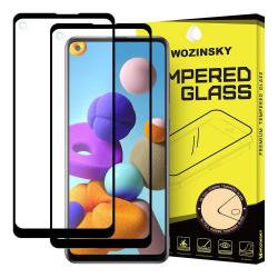 2-Pack Samsung Galaxy A21s Skärmskydd Heltäckande Härdat Glas Transparent