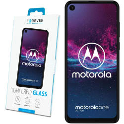 2-Pack Skärmskydd till Motorola One Action - Härdat Glas Transparent